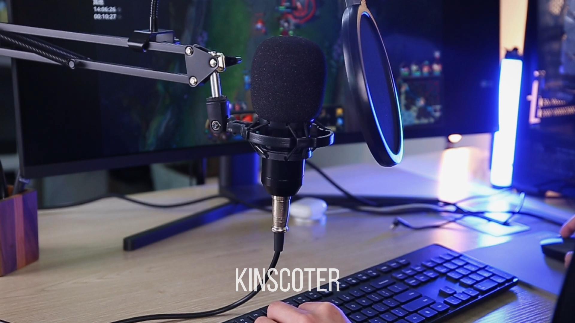 Katlanabilir mikrofon kondenser mikrofon Pro ses stüdyosu ses kayıt kol standı filtresi