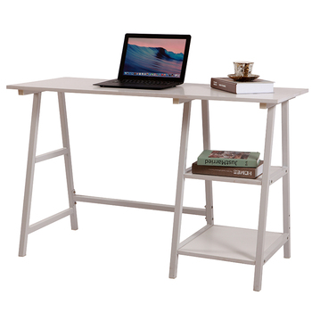 Modern data entry work home 2-Tier Shelves wooden office desk computer Study Table Home Office