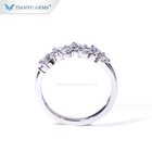Ring Engagement Band Rings Women's Engagement Ring Tianyu Gems 14k/18k Real White Gold Ring Moissanite Engagement Band For Women