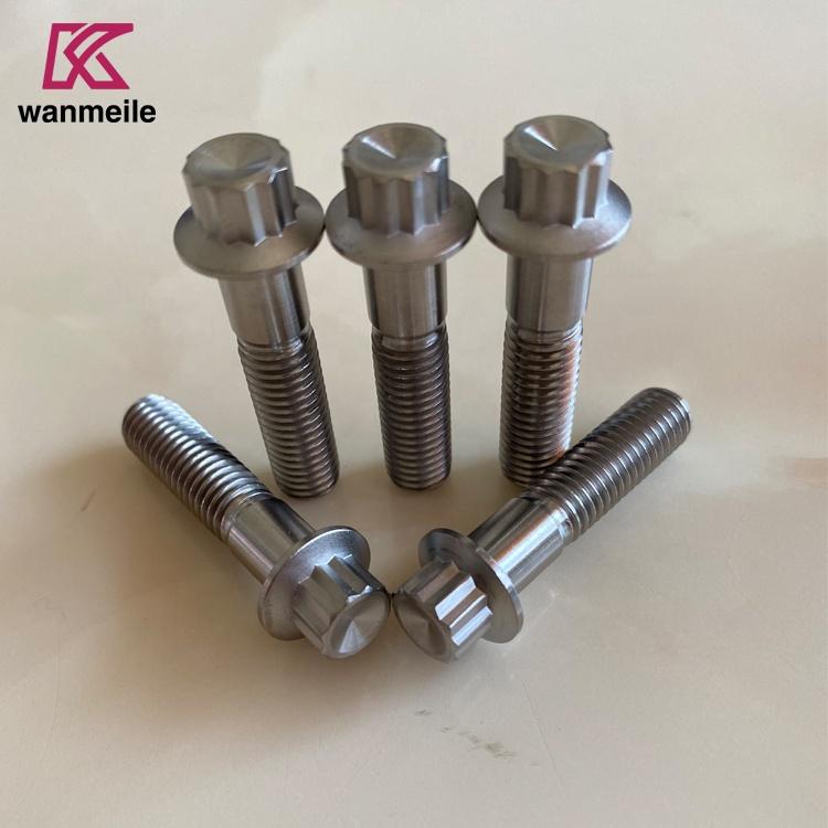 Baoji hot sale Gr5 M7 inner 12 point bolts M7x24.50mm for wheel hub