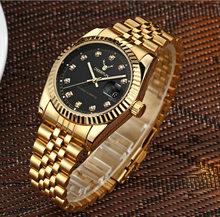 Швейцарские часы oyster perpetual Rolexable datejust MIYOTA, кварцевые классические деловые часы с золотым корпусом, водонепроницаемые часы с алмазной поверх...(Китай)