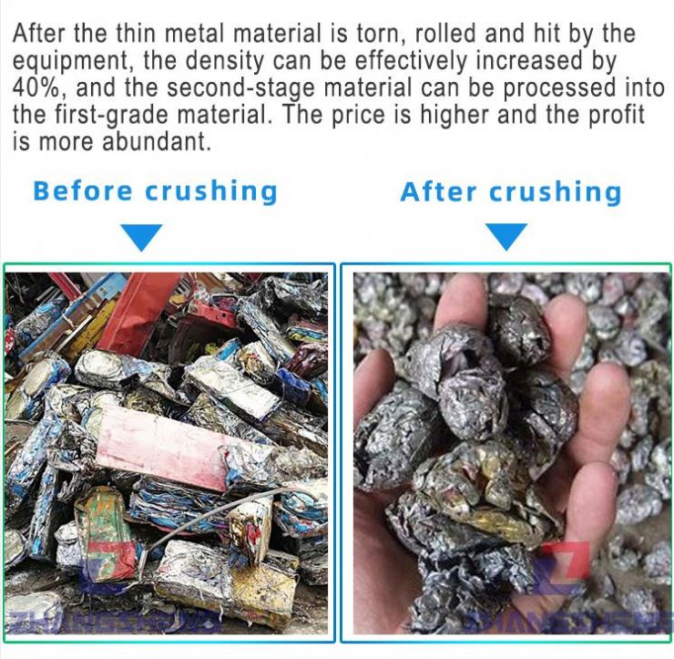 Most popular iron scrap metal recycling plant hydraulic mini aluminum can shredder in the world