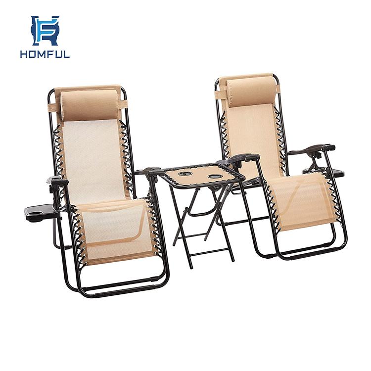 HOMFUL Zero-Gravity Chair of 2 Pack Recliner Zero Gravity Chair Zero Gravity Folding Chair