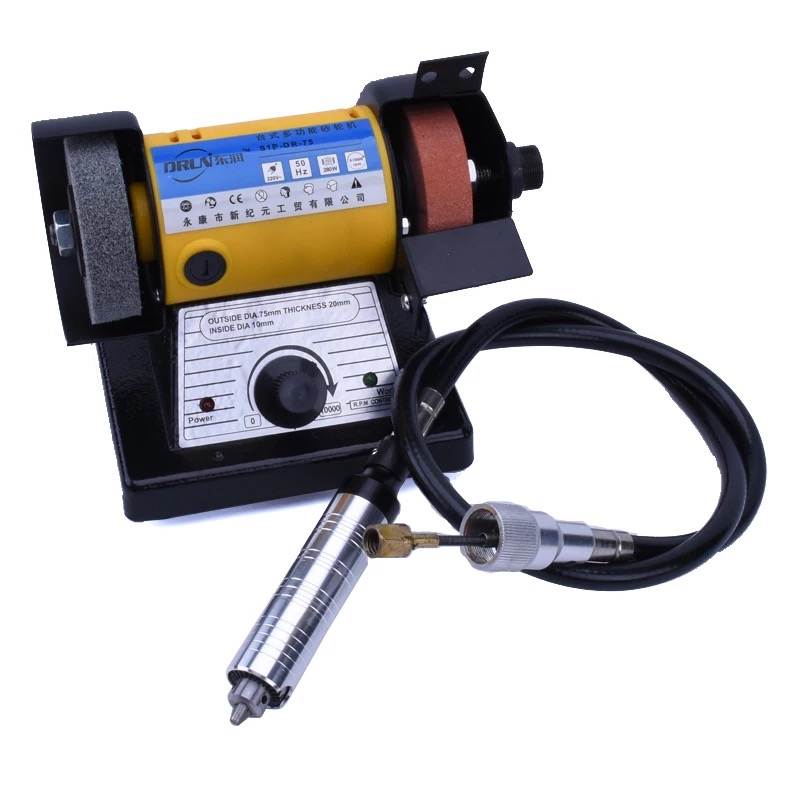 Настольный Электрический шлифовальный станок для резьбы по нефриту с регулируемой скоростью