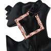 90mm rose gold hoop earrings