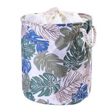 1 шт. складной EVA холст ткань круглая корзина для белья грязная одежда органайзер для игрушек ящик для хранения корзина с ручками(Китай)
