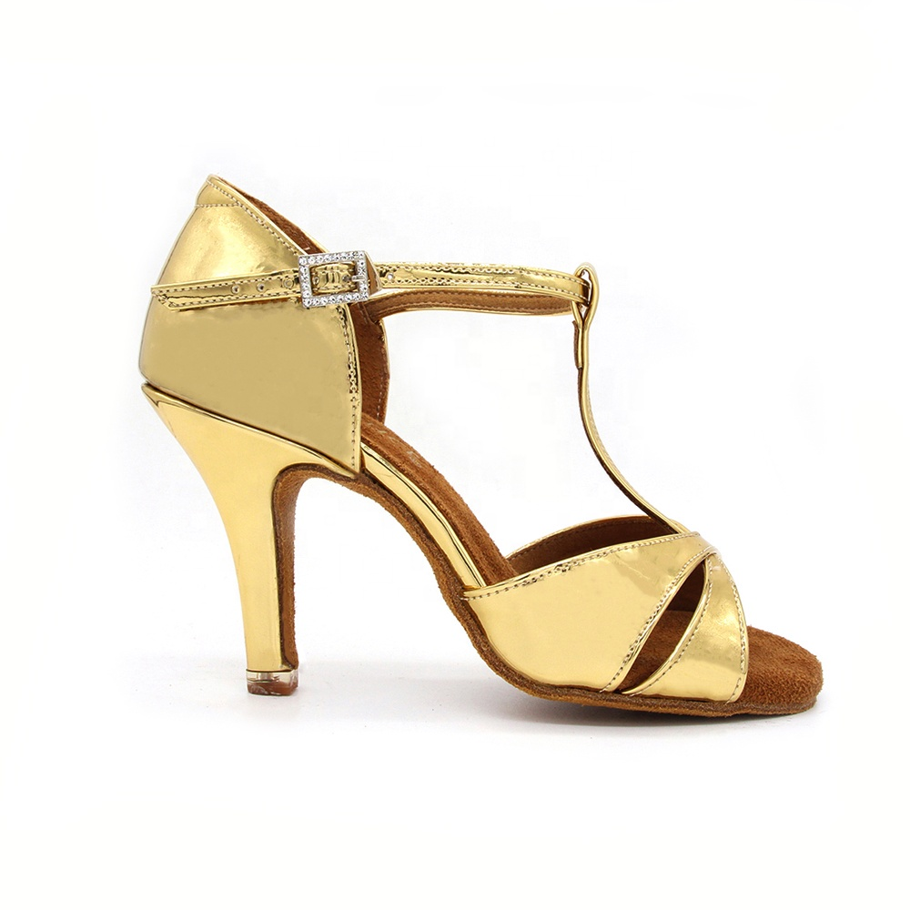 2020 cheap popular fashion high heels ladies ballroom nude color latin dance shoes
