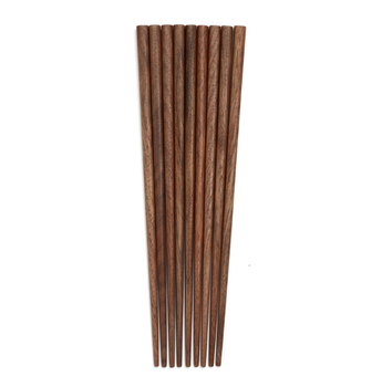 Natural Luxury Black Walnut Wooden Reusable Tableware Family Household Japanese Sushi Chopsticks In Bulk