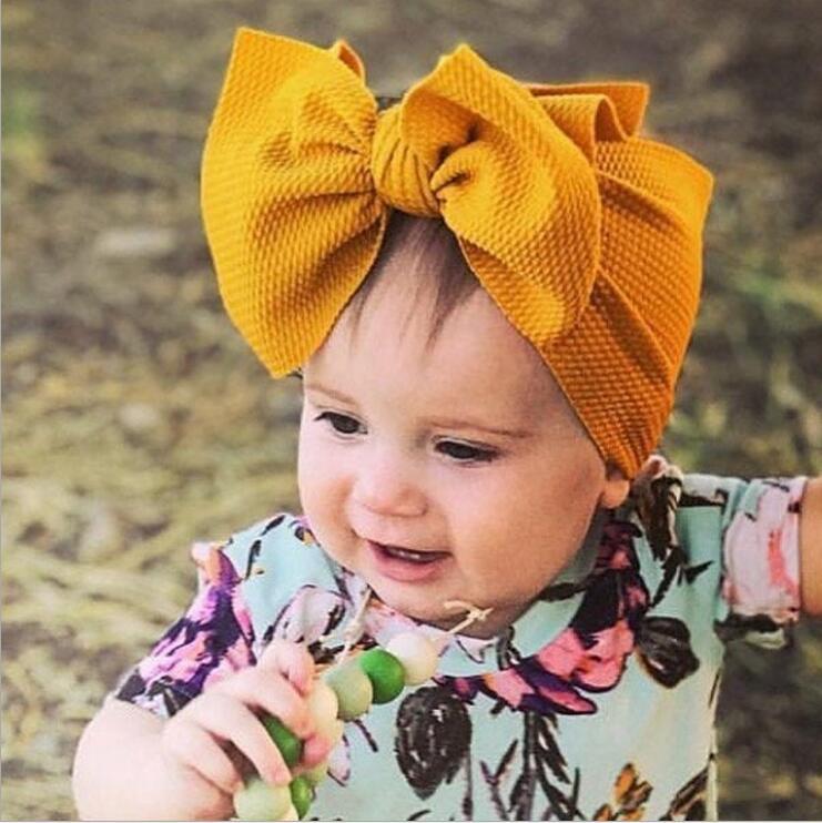 Baby Girl Headband Turban Hairband Bow Flower Head Wrap Elastic Hair Accessories