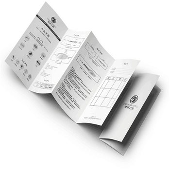Customized small black and white folding printing product User instruction manual