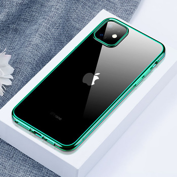Unicorn Beetle Electro Series Designed for Apple iPhone 11 Pro 2019 5.8 inch Case Metallic green Electroplated Edges Slim Case