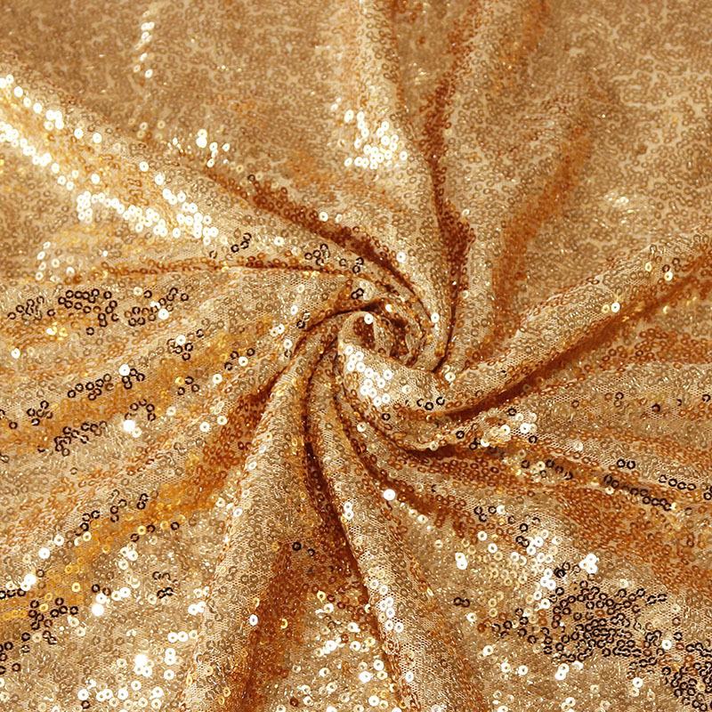 Свадебная скатерть для отеля, украшение из полиэстера, полная версия, вышитая блестками, розовое золото, роскошная Декоративная скатерть с блестками