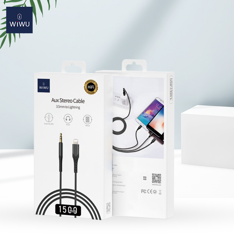 WiWU YP02-YP03 3.5mm to IOS Audio Adapter Cable Audio Stereo Adapter cable