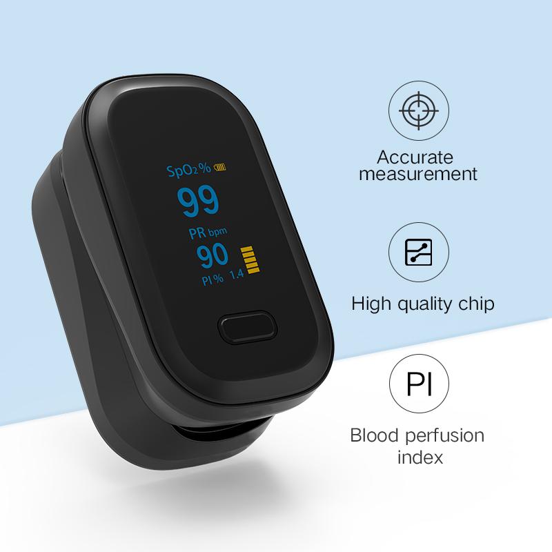 Оксиметр Пальчиковый светодиодный с цветным дисплеем, умный прибор для измерения пульса и уровня кислорода в крови, spo2 oled