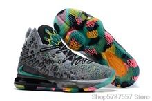 Мужская обувь для баскетбола Nike Lebron17 LBJ17, Новые легкие кроссовки()