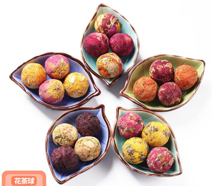 Китайский Цветущий чай с розой/жасмином/лилией/хризантемой