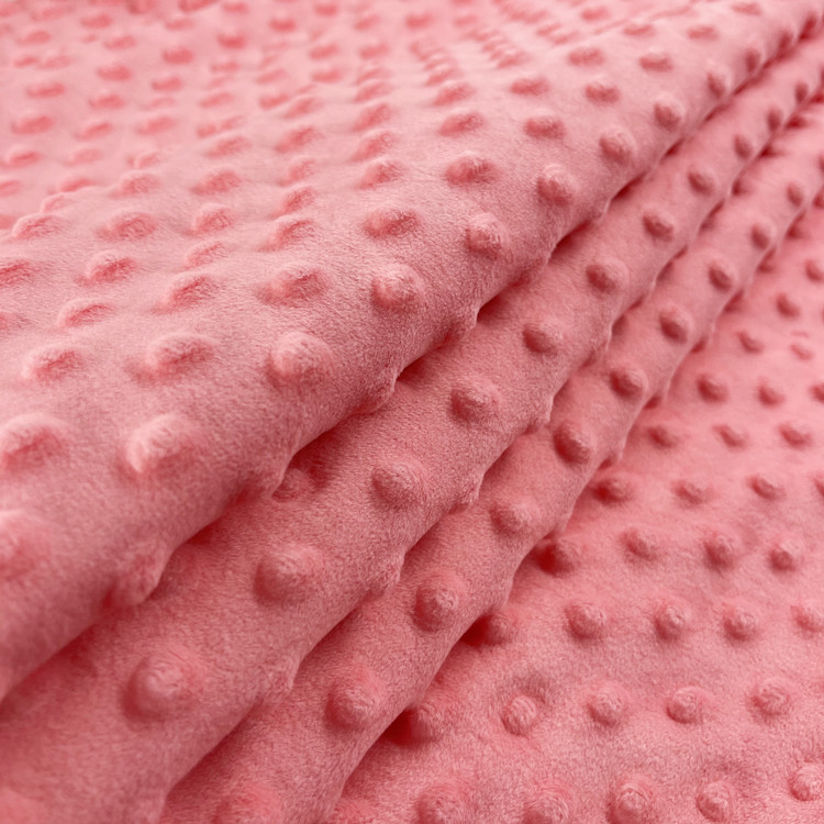 adult minky blanket China Supplier Knitted Minky Fabric pile Custom Printing Service With NO MOQ
