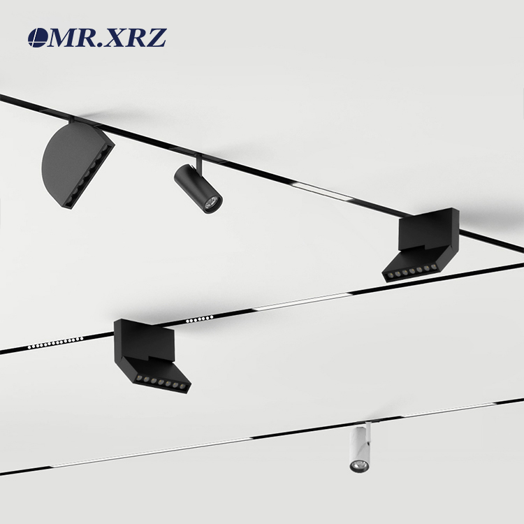 High Quality DC 24V Led Creative Ceiling Spotlights Magnetic Track Lights For Exhibition Gallery