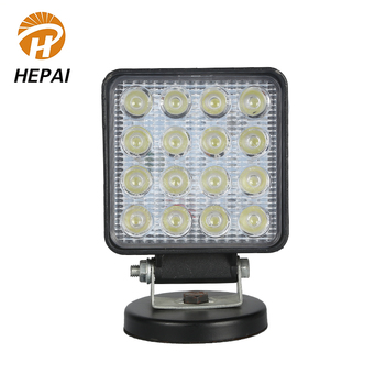 Zhongshan factory driving headlight waterproof offroad auto car square 48w led work light