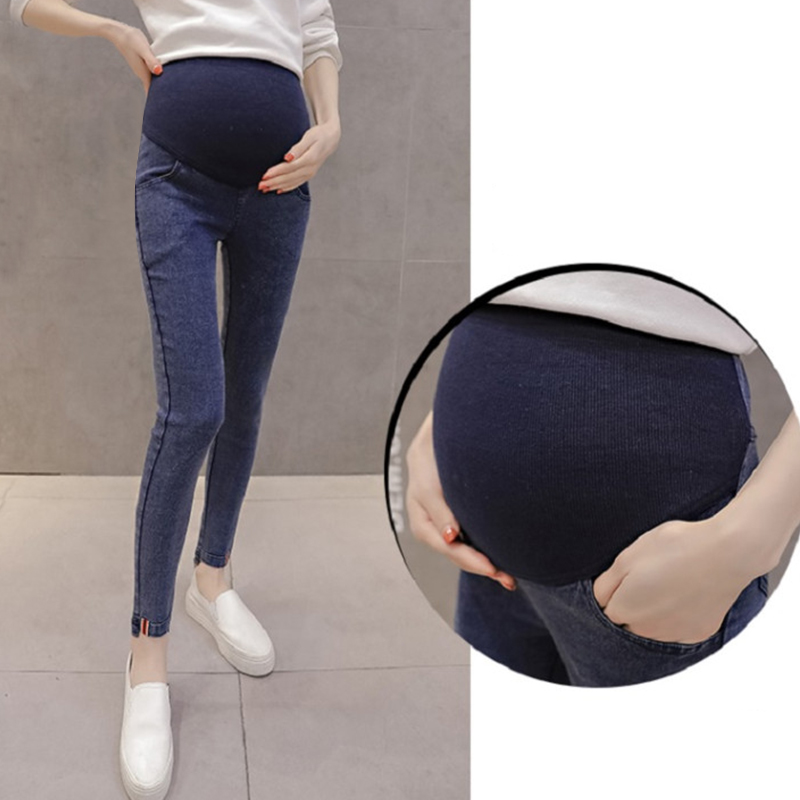 Модель 2021 года, весенние джинсы для беременных с карманами в виде ягодиц для беременных, джинсовые брюки для беременных, хлопковые свободные брюки, Одежда для беременных