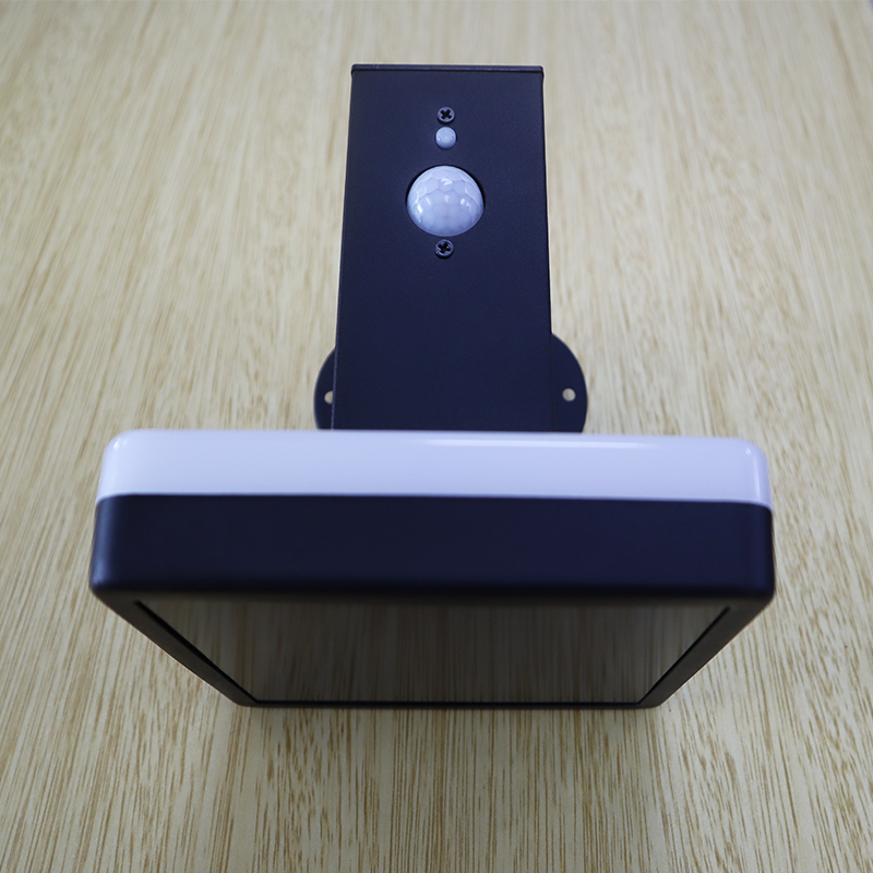 Square Stainless Steel Solar Outdoor Decorative Wall Lamp Solar Motion Sensor Security Light