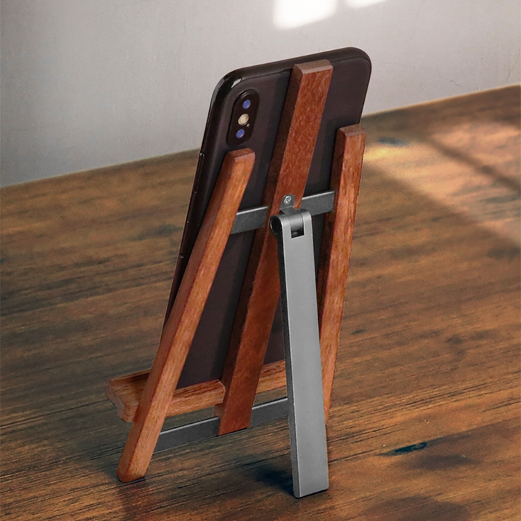 Desktop Stand Video Live Support Lazy Creative Mahogany Wooden Mobile Phone Stand