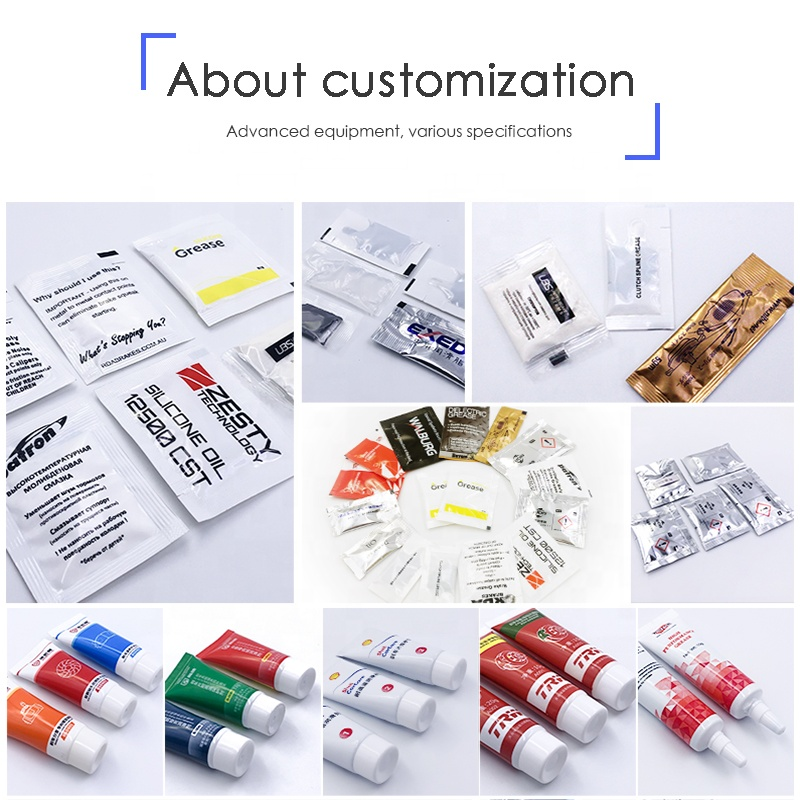 Lithium complexe wheel rail lubricant grease small tube 100g logo customized