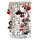 Earring Acrylic Display Earring Holder 360 Rotating Earring Holder And Jewelry Organizer 4 Tiers Acrylic Earring Display Stand 156 Holes And 160 Grooves For Necklaces