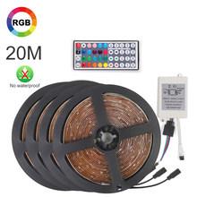 10 м RGB 3528 Светодиодный многоцветное Изменение привело светодиодный светильник полосы с 44key пульт дистанционного управления струнный светил...(Китай)