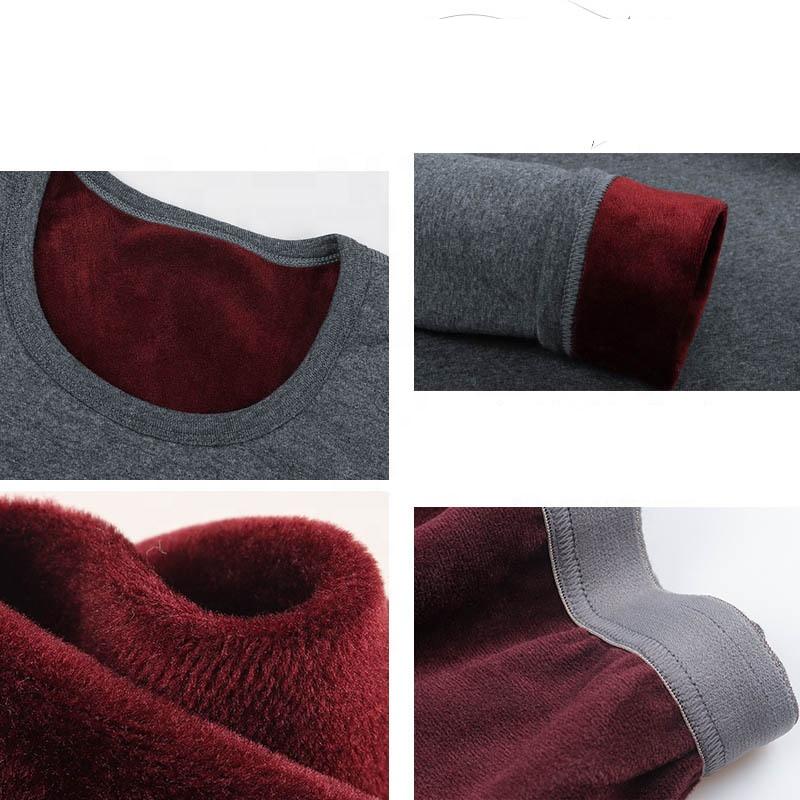 Новинка одежда для пар мужское термобелье бархатный утепленный Молодежный хлопковый костюм с круглым вырезом Женский хлопковый свитер