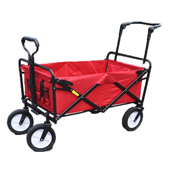 Уличная складная тележка для багажа 75 л, маленький садовый трейлер для покупок, водонепроницаемый сарай 600D