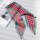 Scarf Scarf New Arrival Women Double Layer Dot Polyester Office Lady Decorative Long Silk Neck Scarf