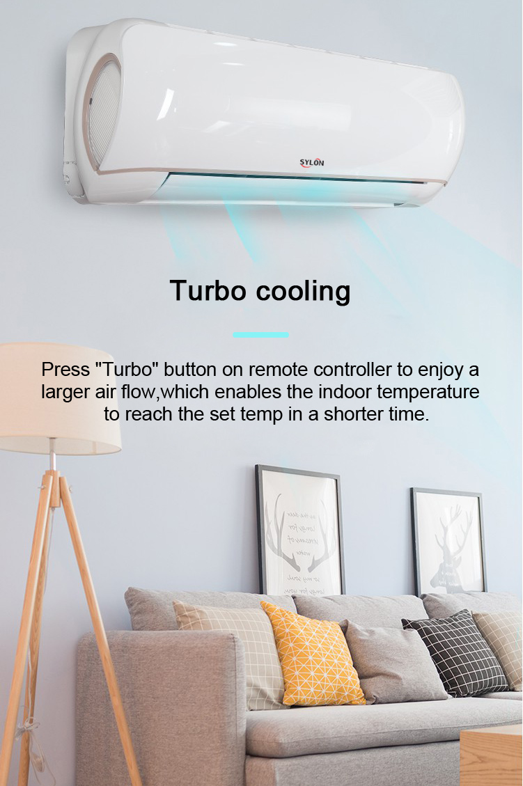 Cooling and Heating Intelligent Defrosting Smart Wifi Wall Split Airconditioner Factory CB Ce Room AC Electrical ROHS SASO