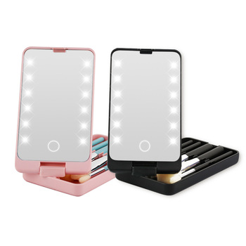 2021 Trending New Product Amazon Crazy Hot Selling LED Battery Powered 360 Degree Rotation Led Light Makeup Mirror