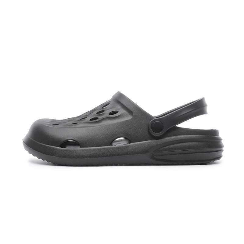 Сандалии и тапочки мужские на толстой подошве, дышащие садовые туфли с отверстиями, Нескользящие, пляжная обувь, модные тапочки