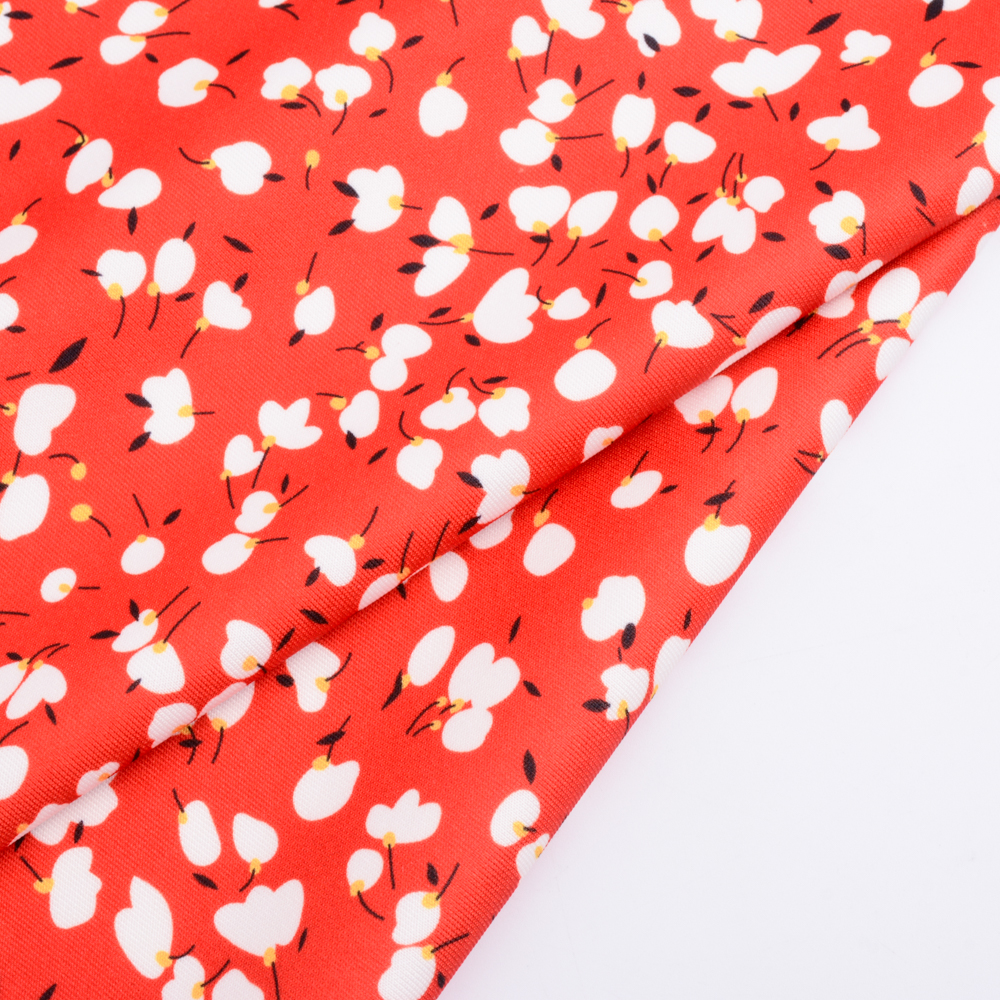 High quality designers two-sided bright floral digital printed knit poly spandex fabric