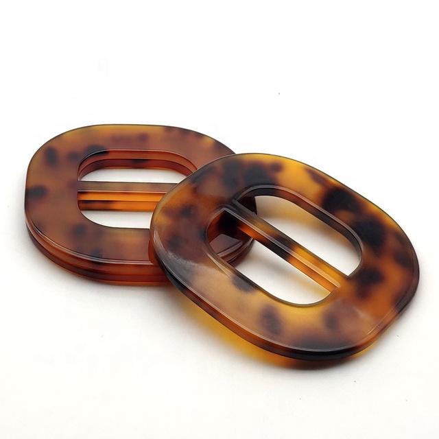 new high-end leopard print resin waist buckle adjustable belt buckles for women coat decoration factory direct wholesale