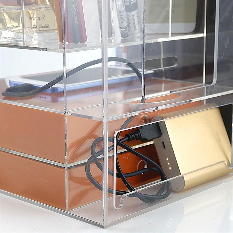 Пользовательский мраморный акриловый офисный канцелярский Органайзер степлер ручной работы