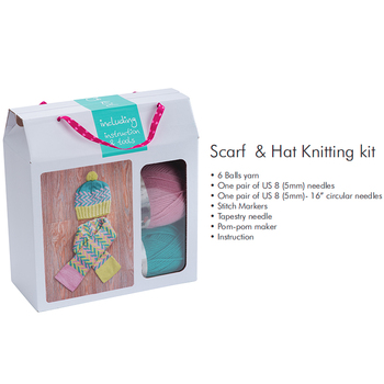 Girl DIY cute craft set hand knitting creative design craft amazing knitter kits