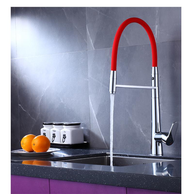 Сантехника, прочный латунный выдвижной распылитель, кухонный кран, смеситель для раковины