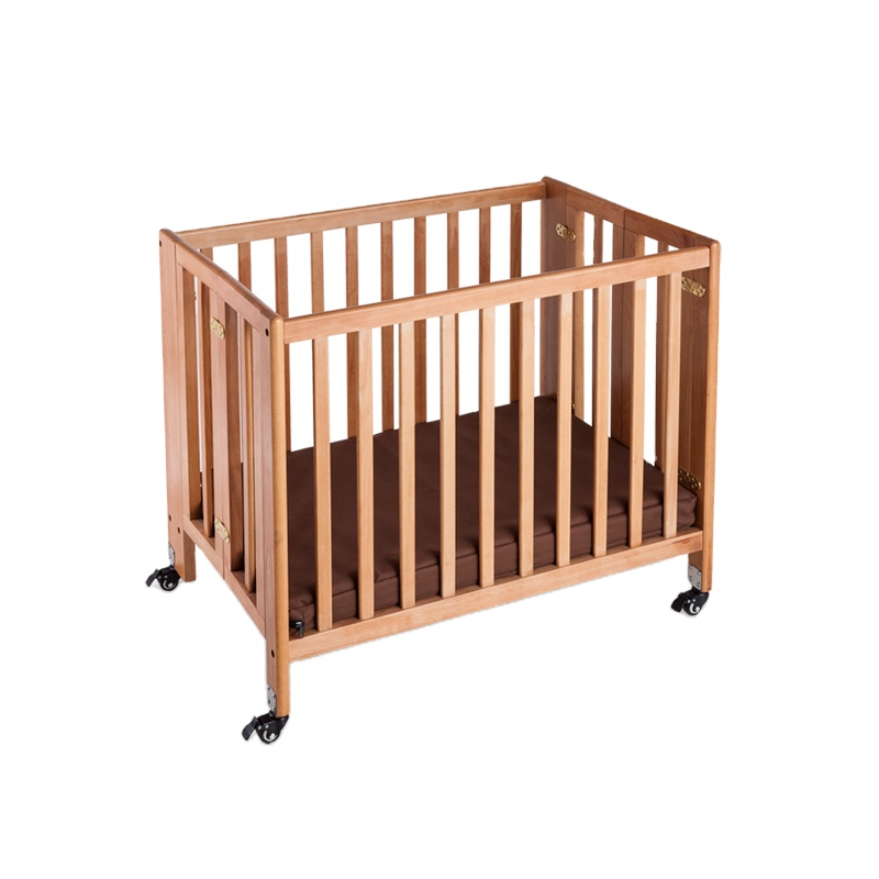 LAICOZY Wholesale Hotel Room Foldable Safety Portable Bamboo Baby Crib