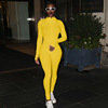 High-necked jumpsuit -yellow
