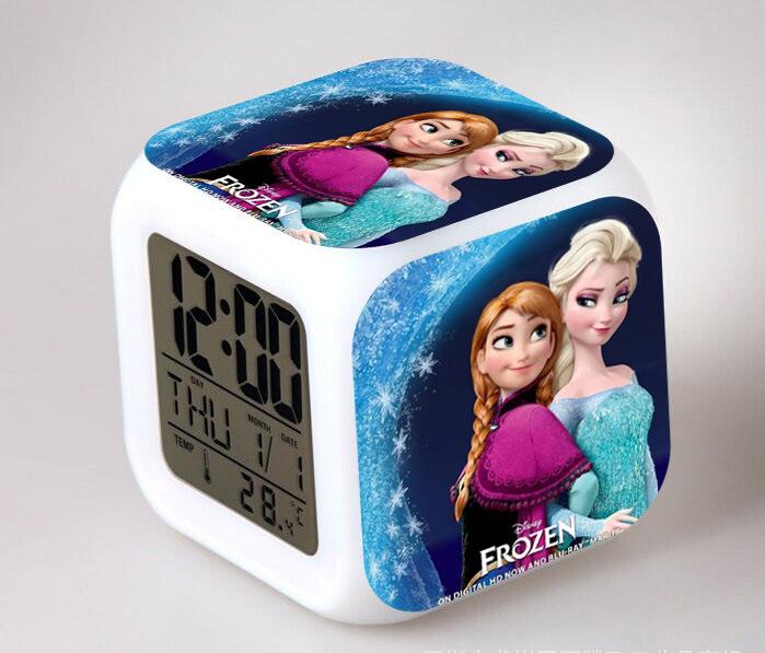 Пользовательский любой узор, студенческий стол, светодиодный мультяшный куб, будильник, красочный цифровой будильник, часы на заказ, детский Настольный будильник