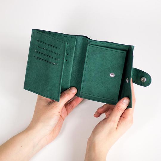 Многоразовый моющийся бумажник из крафт-бумаги с держателем для карт и логотипом на заказ