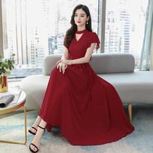 Весна-лето 2020, шифоновое платье миди для отпуска размера плюс, винтажное подиумное платье макси, элегантные женские облегающие вечерние пла...(Китай)