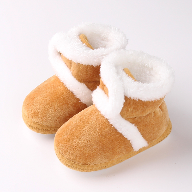 New arrival candy color warm  Plush baby winter shoes baby cotton soft sole winter boots