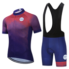 Uniforms Custom Unisex Cycling Jersey And Bib Shorts Set Wholesale Cycling Uniforms Quick-Drying Cycling Shirt