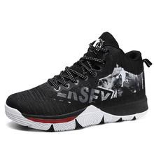 Мужская баскетбольная обувь с высоким берцем; Дышащая Баскетбольная обувь для тренировок на открытом воздухе; Ботильоны; Кроссовки; Мужска...(Китай)