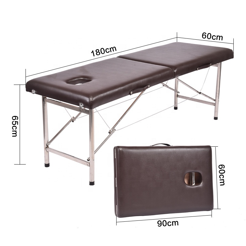 Mini portable stainless steel foldable massage bed high quality and durable facial massage bed spa massage bed