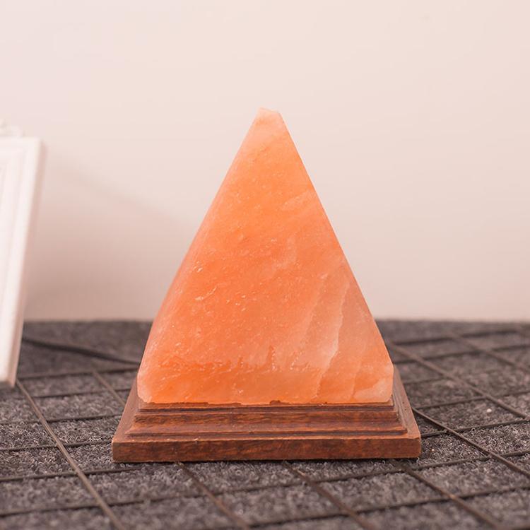 YJN5460D креативная прикроватная пирамида для спальни, Гималайская кристаллическая солевая лампа